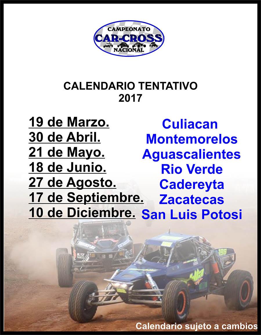 El Car Cross México ya calienta motores, calendario 2017