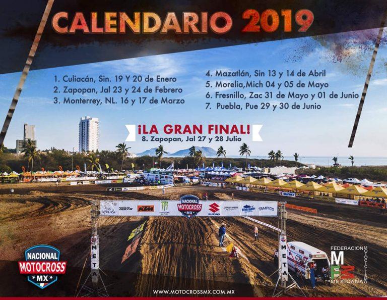 Calendario Nacional Motocross México 2019