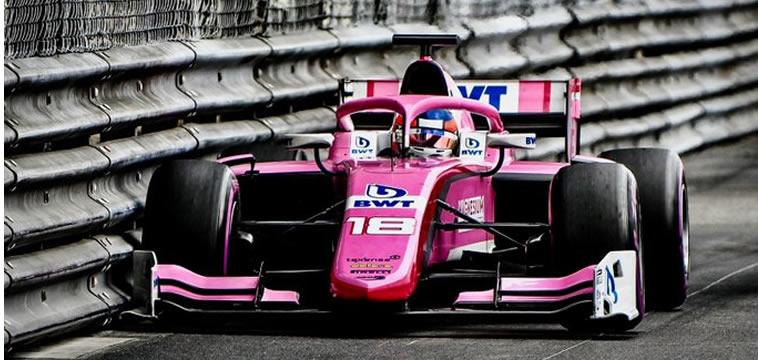 Tatiana Calderón en válida de la F2 en Hungría este fin de semana