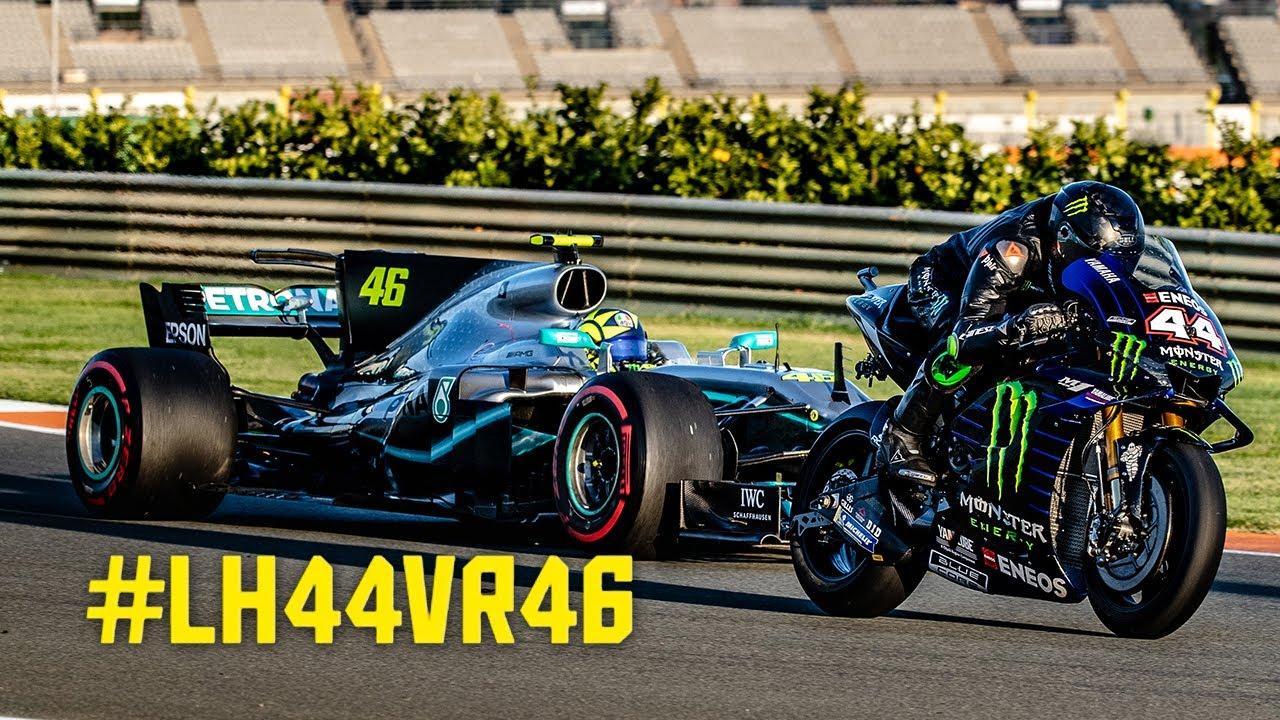 VIDEO: Lewis Hamilton & Valentino Rossi compartieron sus monturas