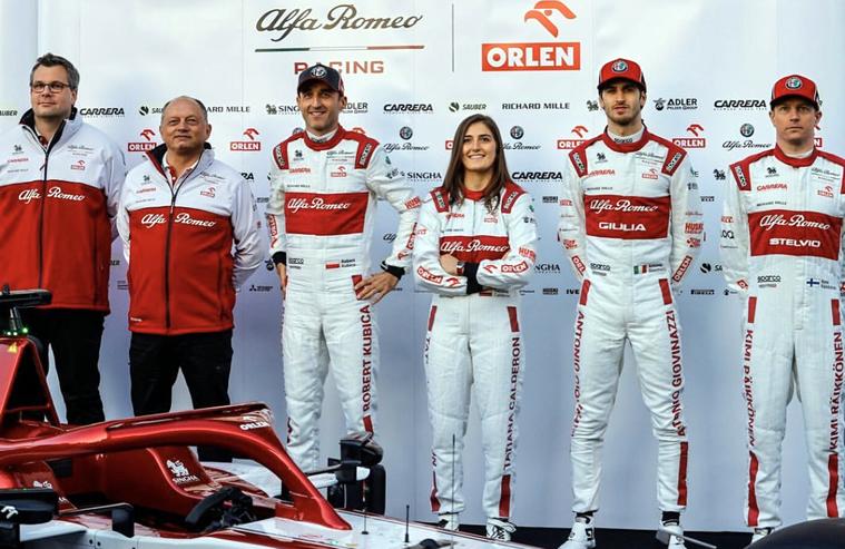 Tatiana Calderón continua como piloto de pruebas de Alfa Romeo Racing 2020