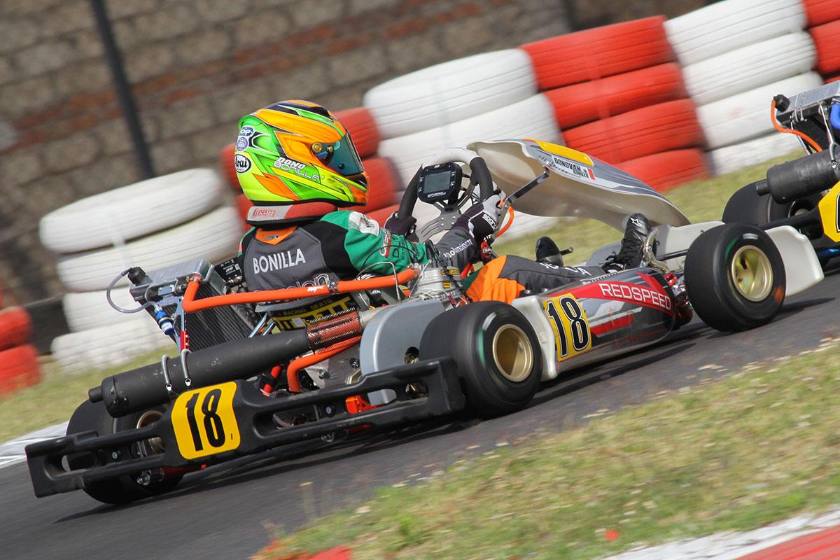 Los hermanos Bonilla crecen en el kartismo Nacional