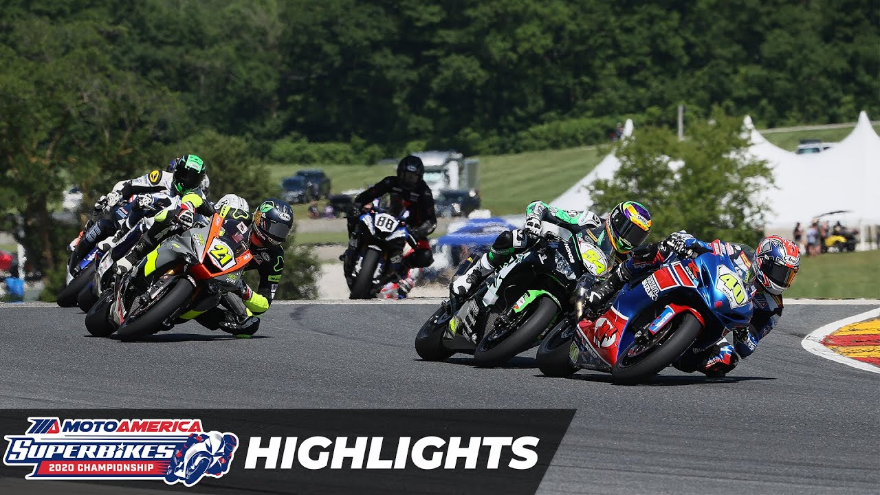 VIDEOS: MotoAmerica 2020 at Road America 2 Supersport Highlights
