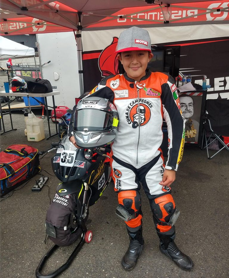 Emiliano Zamudio en la Mini Cup de MotoAmerica