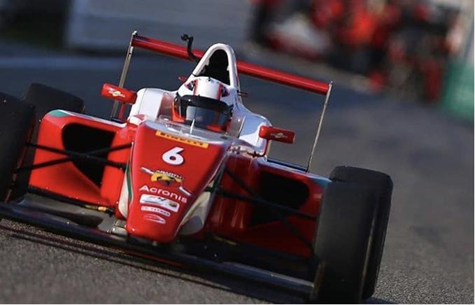 Sebastián Montoya disputó la 2da ronda del FIA F4 Italiano en Imola