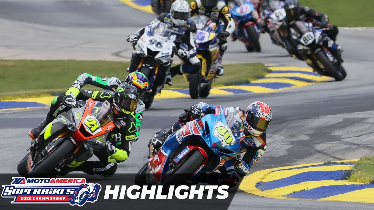VIDEOS: MotoAmerica 2020 Supersport Race 1 y 2 Highlights at Road Atlanta Round 3
