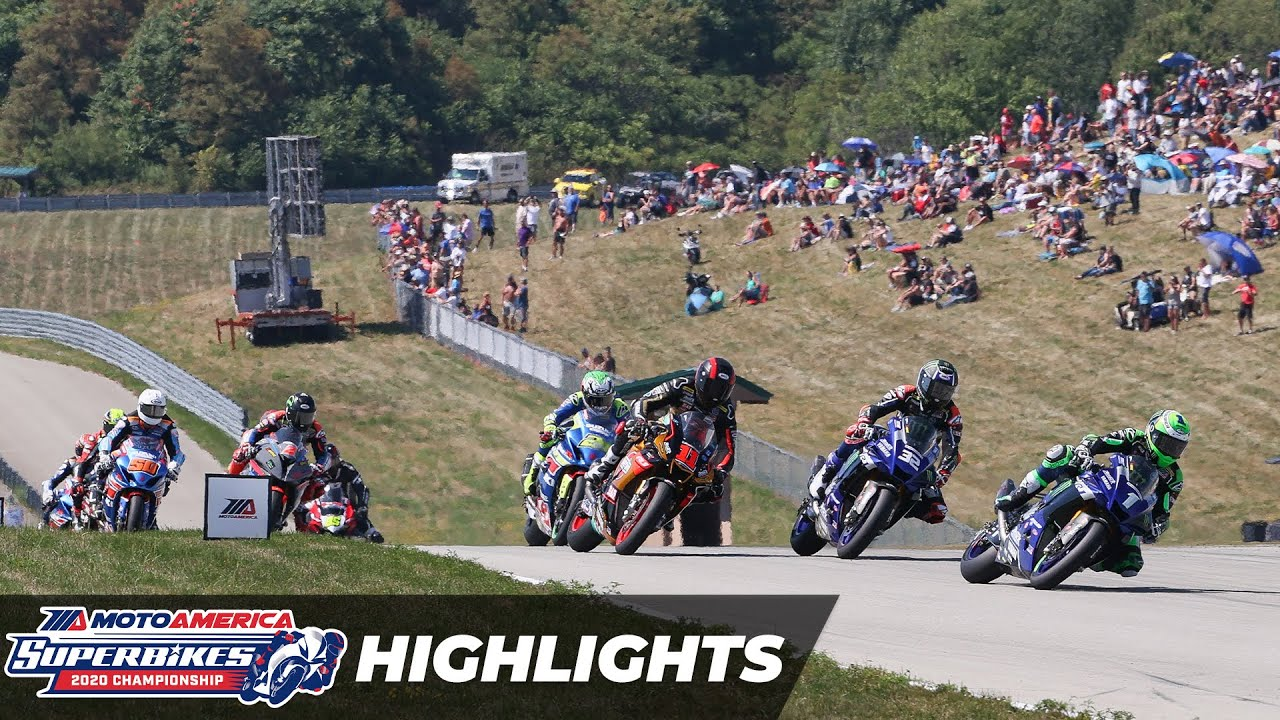 VIDEOS: HONOS Superbike Race 1 y 2 Highlights at Pittsburgh 2020 Round 4 MotoAmerica 2020
