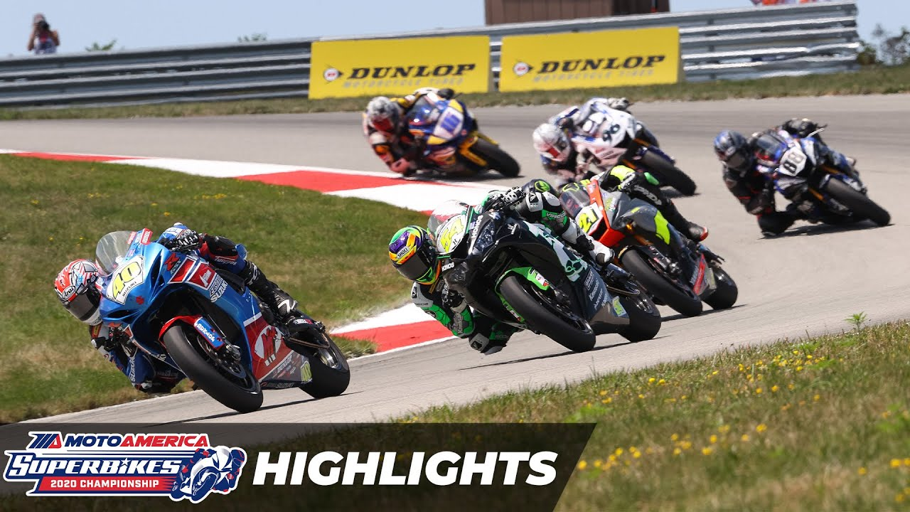 VIDEOS: MotoAmerica 2020 Supersport Race 1 y 2 Pittsburgh Round 4
