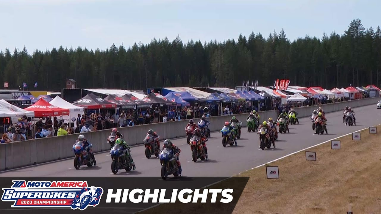 VIDEOS: HONOS Superbike Race 1 y 2 Highlights at The Ridge 2020 MotoAmerica Round 5