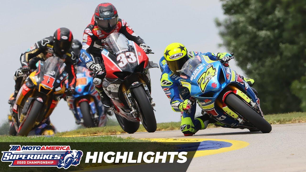 VIDEOS: HONOS Superbike Highlights at Road Atlanta Round 3 MotoAmerica 2020