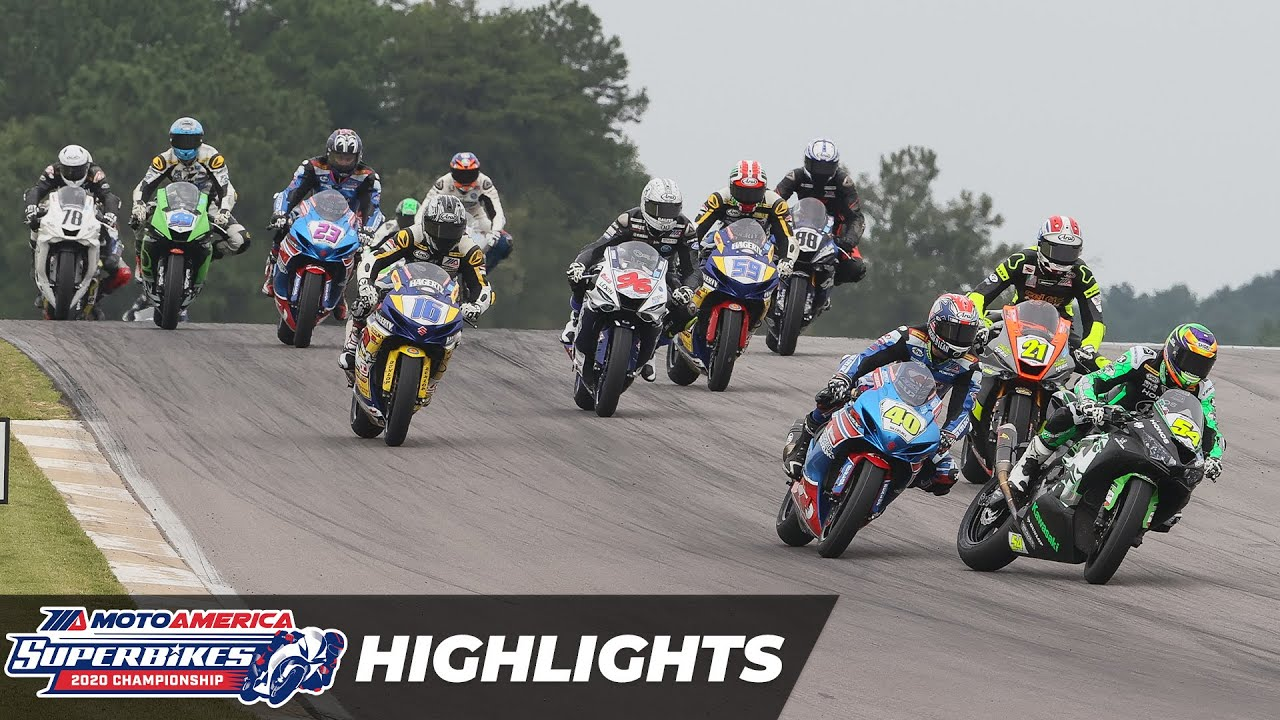 VIDEOS: Motomerica 2020 Supersport Race 1 y 2 Highlights at Alabama  Round 7