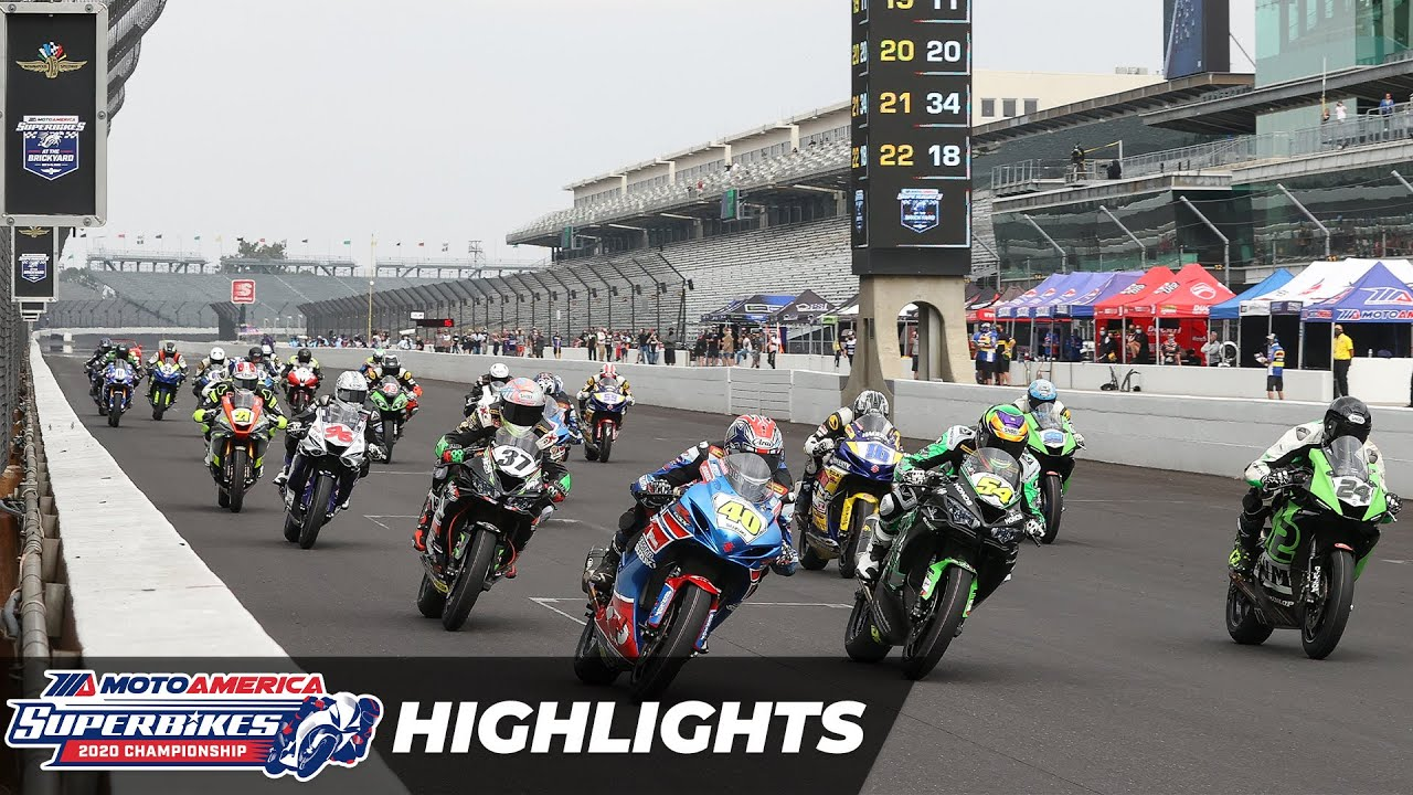 VIDEOS: MotoAmerica 2020 Round 8 Supersport Highlights at Indianapolis Motor Speedway