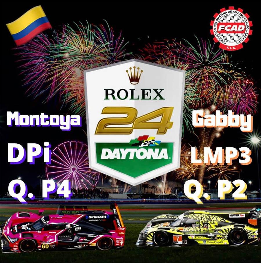 Lista clasificación de los colombianos para la Rolex24