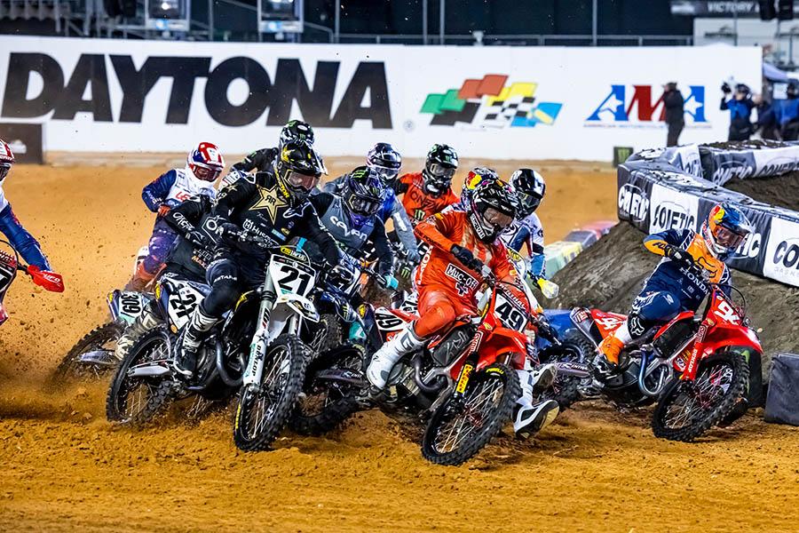 FIM Supercross 2021 Daytona 450SX and 250 Main Event Highlights – Round 9