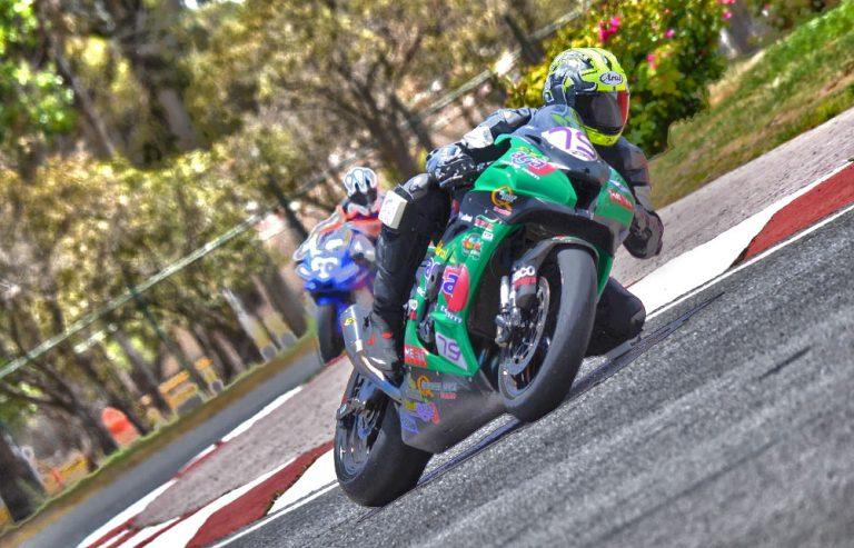 Helverth Gabriel Moreno en el podio del Racing Bike México Autodromo Tangamanga 2021