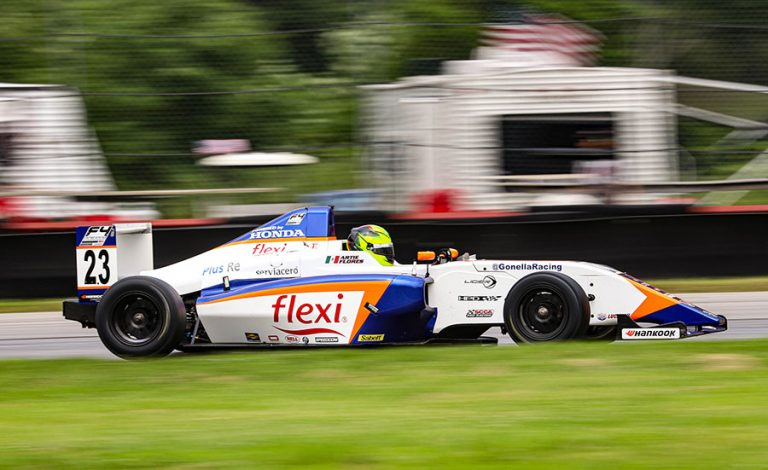 Arturo Flores, con buen desempeño en Mid-Ohio dentro de F4 United States Championship