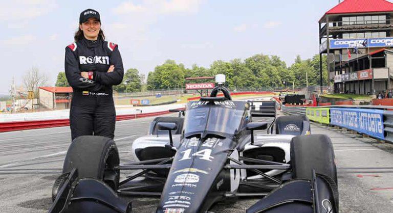 Tatiana Calderón cumplió un exitoso test en IndyCar
