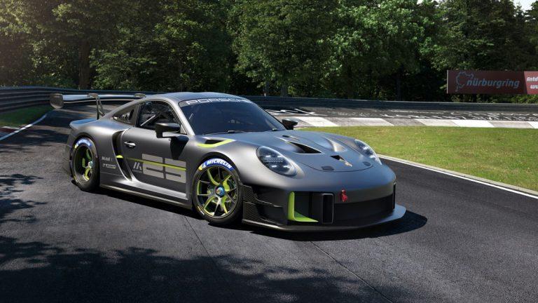 Auto de carreras de serie limitada para uso exclusivo en pista